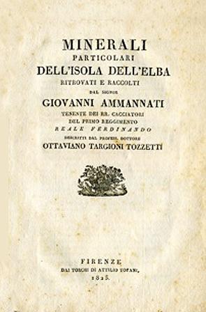 Minerali particolari dell'Isola d'Elba - G. Ammannati